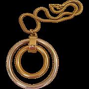 Napier Vintage 3 Inch Modern Pendant Necklace