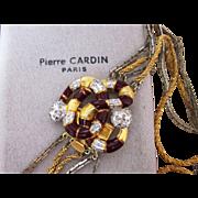 Pierre Cardin Paris Multi Strand Signed Couture Runway  Vintage Necklace