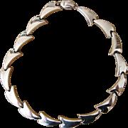 Bayanihan- Sterling Modernist Designer  Vintage Necklace