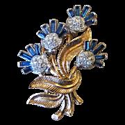 Trifari Signed Stunning Vintage Brooch