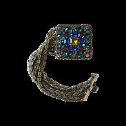 Open Backed Early Vintage Czech Chunky Bracelet