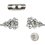 Rhinestone Vintage Duet Brooch and Dress Clips
