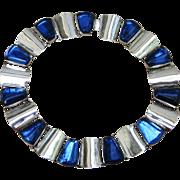 Signed Sterling Huge 112 Grams Vintage Collar Necklace