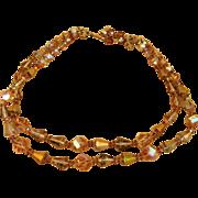 Vendome Super Vintage Signed Double Strand Necklace