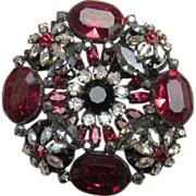 Schreiner Huge and Stunning Vintage Brooch