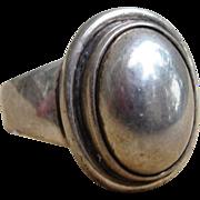 Georg Jensen Signed Sterling Silver Vintage Ring
