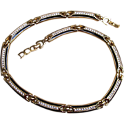 Christian Dior Signed Rhinestone Vintage Necklace