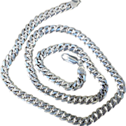 Unisex Heavy and Chunky Sterling Silver Vintage Curb Chain
