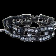 Weiss Signed Vintage Rhinestone Bracelet