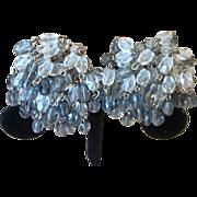 Glass Crystal Pom Pom Quality Vintage Earrings