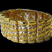 St. John Chunky Wide Vintage Status Signed Bracelet