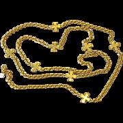 50 Inch Signed Designer Fabulous Vintage Necklace Sautoir