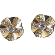 Givenchy Signed Vintage Rhinestone Earrings