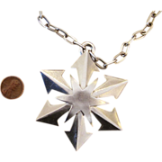 Trifari Large Mod Vintage Signed  Pendant Necklace