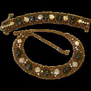 ALICE CAVINESS Amazing Vintage Signed Necklace and Bracelet Set