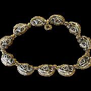 Danecraft Sterling Signed Stunning Vintage Sterling Necklace