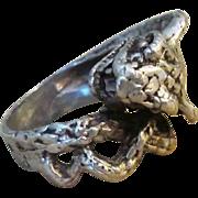 Hand Forged Sterling Serpent or Snake Vintage Sterling Ring