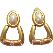 Givenchy Huge Couture Signed Vintage Earrings