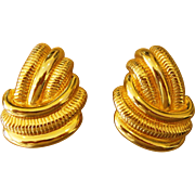 Stunning and Elegant  Pair of Substantial Designer 1980's Vintage Earrings