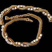Eisenberg Signed Vintage Rhinestone Necklace and Bracelet Set