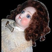 "6"" Dark Auburn Curls Mohair Wig"
