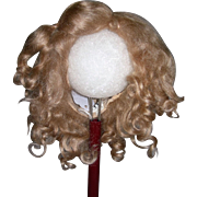 """13"""" Dark blond Mohair wig side part"""