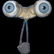 22MM Blue Glass Blown German eyes 4 Bisque head dolls