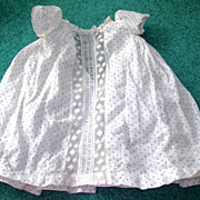 """SALE Sweet cream poke-a-dot Dress for 16-18"""" bisque dolls"""