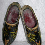 Painted Wooden shoes for Dolls