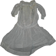 "Gorgeous White Batiste dress Drop waist  22-24"" dolls"