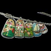 #5 Russian Nesting Dolls Pin Founding Fathers & ship