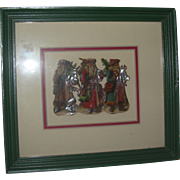Vintage Framed Christmas Die cuts( 3 Santas)