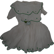 Vintage Organdy Doll Dress...Handmade!