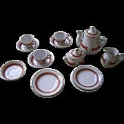 Doll Sized  Miniature China Coffee Set