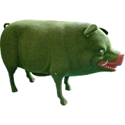 Large Green Pig Candy Container for St. Patrick's Day