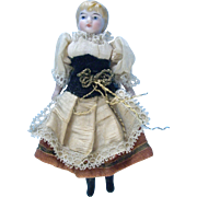 4 1/2'' All Original German Dollhouse Kling Doll