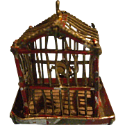 Miniature Soft Metal Dollhouse Birdcage