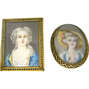 Antique Miniature European Portraits for Dollhouse
