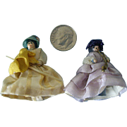 1 1/2'' Dolls in Fancy Dresses