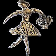 Alice Caviness Sterling Silver Ballerina Pin