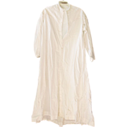 REDUCED Late Victorian / Edwardian White Cotton Night Gown or Robe