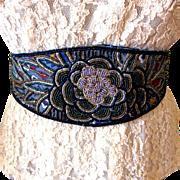 Vintage Dior Beaded Cumberbund / Sash Belt - size S