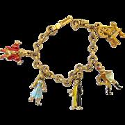 REDUCED Vintage Disney Character Sleeping Beauty Charm Bracelet
