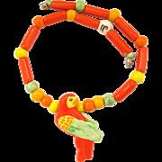 Parrot Pearls Ceramic Parrot Necklace