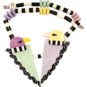 Ruby Z Ceramic Thunderbird Necklace by Candace Loheed - Rare Design