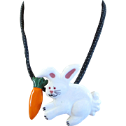 Flying Colors Bunny Rabbit Pendant