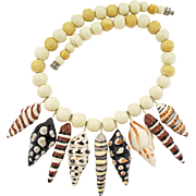 Flying Colors Ceramic Sea Shells Necklace
