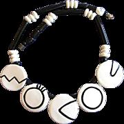 Ruby Z Candance Loheed Op Art Ceramic Necklace
