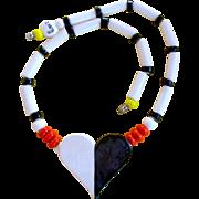 Ruby Z By Bean Finneran Ceramic Heart Necklace