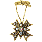 Florenza Maltese Cross Pin / Pendant